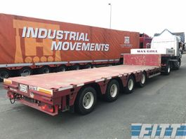 semi lowloader semi trailer ES-GE 2x 4ass semi dieplader, 5mtr uitschuifbaar 2009