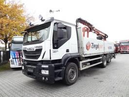 crane truck Iveco Stralis 460 6X2 Atlas 140 Baustoffkran 2014