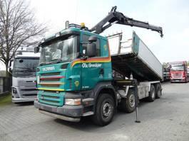 crane truck Scania R420 8X2 Kipper mit Kran HIAB 144 2006