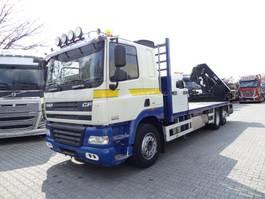 crane truck DAF CF 85 6X2 mit HIAB 211 EP-4 HiDuo 2008