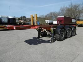 swap body trailer semi trailer Fliegl 3 Achs Container Chassis 20Fuss Heckbündig Alu 2016