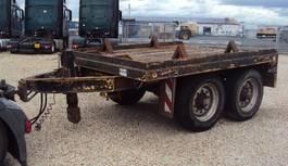 flatbed full trailer Goldhofer Tandem 13 to Absetz Container BPW blatt 1996