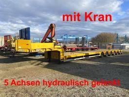 lowloader semi trailer Doll S6H-0-N 6 Achs Satteltieflader, 5 x gelenkt mit Kran-- wenig Benutzt -- 2009