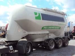tank semi trailer semi trailer Feldbinder 3 Achs Eutersilo liegend 32.3 UNFALL 2015