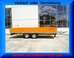 drop side full trailer Möslein THT 11- G 7,2 Tandem Pritschenanhänger 2021