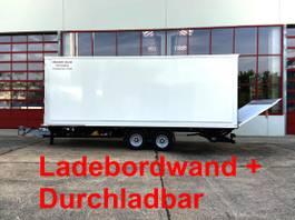closed box trailer Möslein TK0105D-L Weiß Tandem Koffer, Ladebordwand 1,5 t + DurchladbarNeufahrzeu... 2021