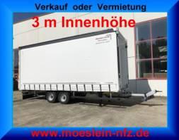 sliding curtain trailer Möslein TP 11-3 Tandem- Schiebeplanenanhänger 3 m Innenhöhe-- Fahrgestell und Au... 2021