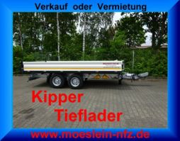 Kipper <3.5 t Möslein TTD 11 Weiß Tandem 3- Seitenkipper Tieflader-- Neufahrzeug -- 2021