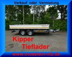 tipper lcv <3.5 t Möslein TTD 11 Weiß Tandem 3- Seitenkipper Tieflader-- Neufahrzeug -- 2021