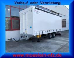 sliding curtain trailer Möslein TPF 105 Tandem- Schiebeplanenanhänger, Ladungssicherungszertifikat-- Fah... 2021