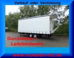 sliding curtain trailer Möslein TPS 11 DL 7,30 Tandem Planenanhänger, Ladebordwand 1,5 t + Durchladbar--... 2021