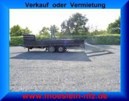 lowloader trailer Fliegl TPS 100 Tandem- Prischen- Tiefladeranhänger 2008