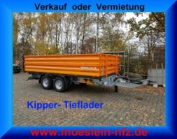 tipper lcv Möslein TTD11- BA Orange Tandem Kipper Tiefladermit Bordwand- Aufsatz-- Neufahrz... 2021