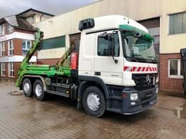 container truck Mercedes-Benz 2544 6x2 Meiller AK 16 MT Teleskop Absetzkipper 2007