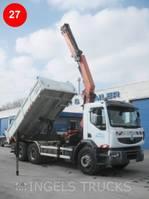 crane truck Renault Premium 380 6X4 D-CAB 2011