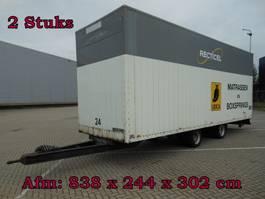 closed box trailer Jumbo TM 120 2 As Wipkar Gesloten, WF-89-VR & WD-91-YJ, 2 Stuks 1990