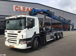 container truck Scania P360 8X2/*6 Hiab 24 ton/meter laadkraan 2010