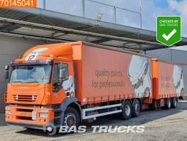 sliding curtain truck Iveco Stralis 350 6X2 Ladebordwand Lift+Steering Axle 2005