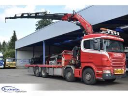 platform truck Scania R480 Fassi F800BXP.28, Euro 5, 8x2 2010