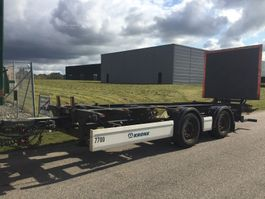 Container-Fahrgestell Auflieger Krone ZZW 18 EL 7450 mm veksellads kærre - Zepro lift 2014