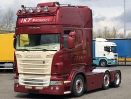 mega-volume tractorhead Scania R500-V8 6x2/4 LOW DECK HEFSCHOTEL RETARDER 2010