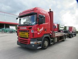 tow-recovery truck Scania R420 Pritsche mit absenkbarem Plateau 2011