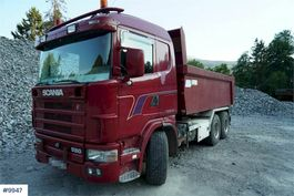 tipper truck > 7.5 t Scania R164 6x2 tipper truck 2004