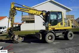 wheeled excavator Komatsu PW148-8 w/ rotor tilt 2011