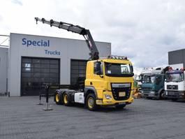 crane truck DAF CF 460 6x4 Euro 6 + Hiab 288 EP-4 Hipro 2017