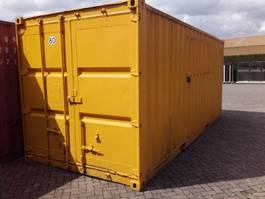 contenedor de transporte de carga seca estándar 20ft container met stelling en elektra