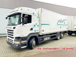 closed box truck Scania R450 LB 6x2-4 R450 LB 6x2-4 Getränkekoffer, Retarder, Lift-/Lenkachse, Staple... 2014