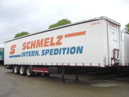 flatbed semi trailer Meusburger - - MEUSBURGER, Mega, Edscha, Gardine 1999