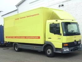 closed box truck Mercedes-Benz Atego 815 4x2 Klima/Umweltplakette gelb 2003