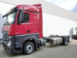 chassis cab truck Mercedes-Benz Actros 2545 L 6x2 Actros 2545L 6x2 Fahrgestell mit Retarder,Voll-Luft gefedert