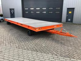 flatbed full trailer industrie aanhanger