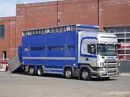 Viehtransporter-LKW Scania R480 Topline 8x2 - Livestock - Pezzaioli 2 deck - 36.9M2 - Retarder - Box 2008 2008