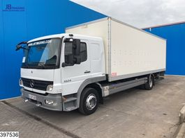 closed box truck Mercedes-Benz Atego 1524 Manual, Steel suspension 2010