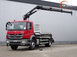 crane truck Mercedes-Benz Axor 1829 Hiab 14TM Kraan, Crane, Kran - Remote control - Euro 5 2013