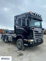 cab over engine Scania G490 4x4+2 truck w/ hydraulics and snow riged 2016