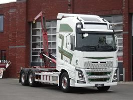 Container-LKW Volvo FH16.600 Globetrotter XL 6x4 - HIAB Hooklift - Euro5 - Full air - Leather - Retarder 2014