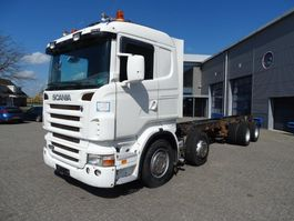 chassis cab truck Scania R420 / 8X2 / FULL-AIR / LOW-KM / EURO-4 / 2008 2008
