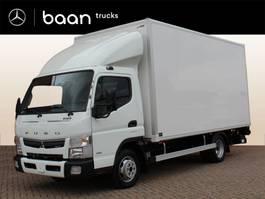 closed box truck FUSO Canter 3C15 AMT CC 340 Meubelbak Laadklep Zijdeur, rolstops, 3-D dakspoiler 2020