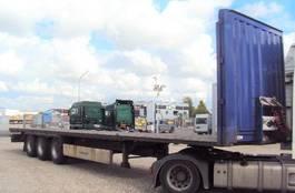 flatbed semi trailer Krone 3 achs Plateau Coil 385 Lochleiste standart 2012