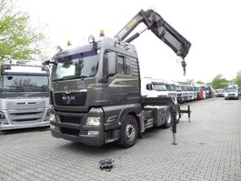 cab over engine MAN TGX 28 BLS mit Kran HMF 28 T/M 2009