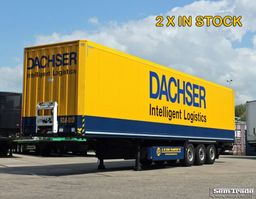 closed box semi trailer Krone SDK 27 BOX TRAILER  LIFT AS 2000 KG LAADKLEP TOP STAAT! 2013