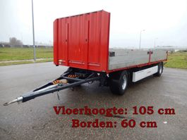 drop side full trailer Krone AZ 2 As Vrachtwagen Aanhangwagen Open, 26-WB-TD 2008
