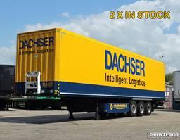 closed box semi trailer Krone SDK 27  KASTEN TRAILER  LIFT AS 2000 KG LAADKLEP TOP STAAT! 2013