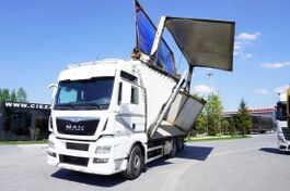 Holztransporter MAN TGX 28 .580 XXL , E6 , 6X2 , Self-discharge 40m3 , left tipper , 2017
