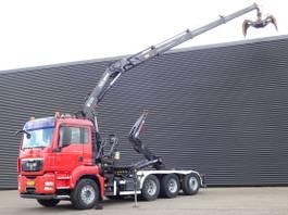 Container-LKW MAN TGS 35 8x4/4 / ABROLKIPPER + HIAB KRAN 2008