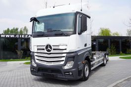Container-LKW Mercedes-Benz Actros 2543 , E6 , 6X2 , BDF , chassis 7,2m , wheelbase 4,9m , r 2017